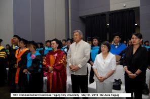 10th Commencement Exercises Taguig City University May 04, 2016 SM Aura Taguig