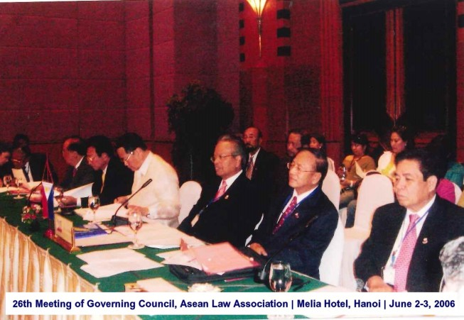 26th Meeting of Governing Council, Asean Law Association Melia Hotel, Hanoi June 2-3, 2006