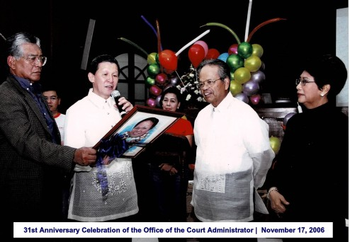 31st Anniversary Celebration of the Office of the Court Administrator November 17, 2006