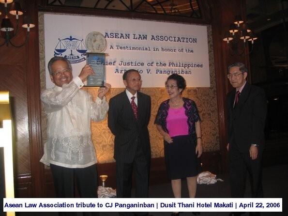 Asean Law Association tribute to CJ Panganinban Dusit Thani Hotel Makati April 22, 2006 1