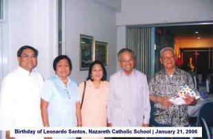 Birthday of Leonardo Santos, Nazareth Catholic School January 21, 2006