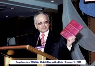 Book launch of SUMMA Makati Shangri-La Hotel October 18, 2006 1