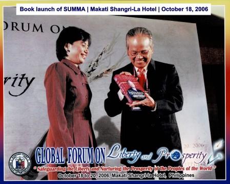 Book launch of SUMMA Makati Shangri-La Hotel October 18, 2006