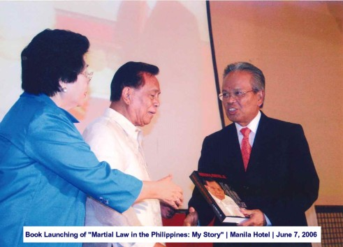 Book Launching of Martial Law in the Philippines My Story Manila Hotel June 7, 2006