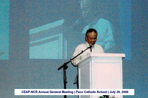 CEAP-NCR Annual General Meeting Paco Catholic School July 29, 2006
