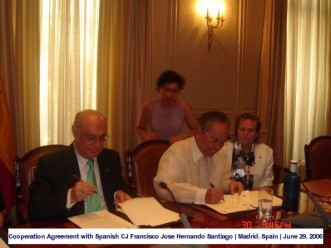 Cooperation Agreement with Spanish CJ Francisco Jose Hernando Santiago Madrid, Spain June 29, 2006