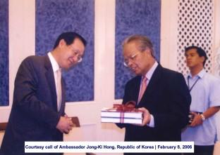 Courtesy call of Ambassador Jong-Ki Hong, Republic of Korea February 8, 2006