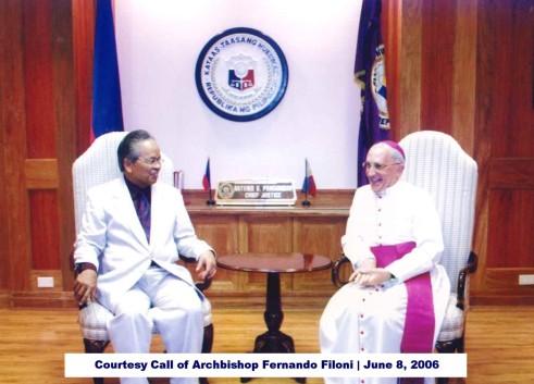 Courtesy Call of Archbishop Fernando Filoni June 8, 2006