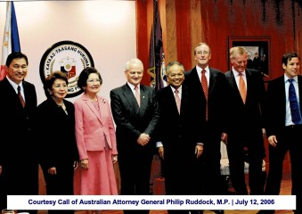 Courtesy Call of Australian Attorney General Philip Ruddock, M.P. July 12, 2006