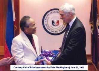 Courtesy Call of British Ambassador Peter Beckingham June 22, 2006