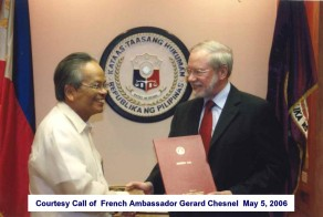 Courtesy Call of French Ambassador Gerard Chesnel May 5, 2006