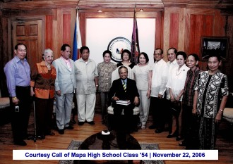 Courtesy Call of Mapa High School Class '54 November 22, 2006(1)