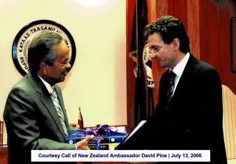Courtesy Call of New Zealand Ambassador David Pine July 13, 2006