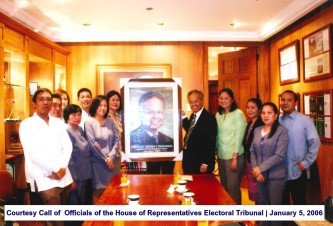 Courtesy Call of Officials of the House of Representatives Electoral Tribunal January 5, 2006
