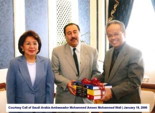 Courtesy Call of Saudi Arabia Ambassador Mohammed Ameen Mohammed Wali January 19, 2006