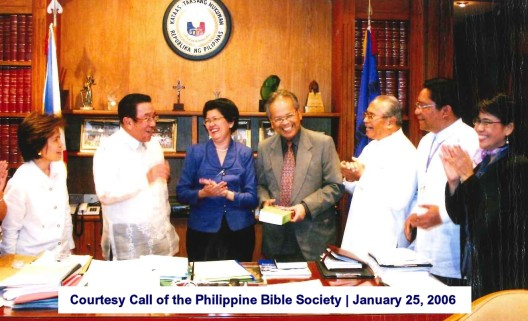 Courtesy Call of the Philippine Bible Society January 25, 2006