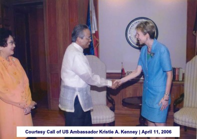 Courtesy Call of US Ambassador Kristie A. Kenney April 11, 2006
