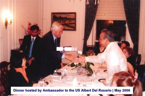Dinner hosted by Ambassador to the US Albert Del Rosario May 2006