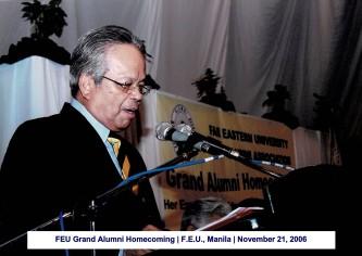 FEU Grand Alumni Homecoming F.E.U., Manila November 21, 2006(1)