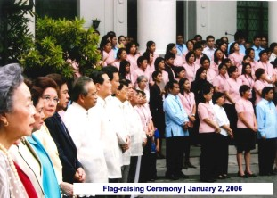 Flag-raising Ceremony January 2, 2006 2
