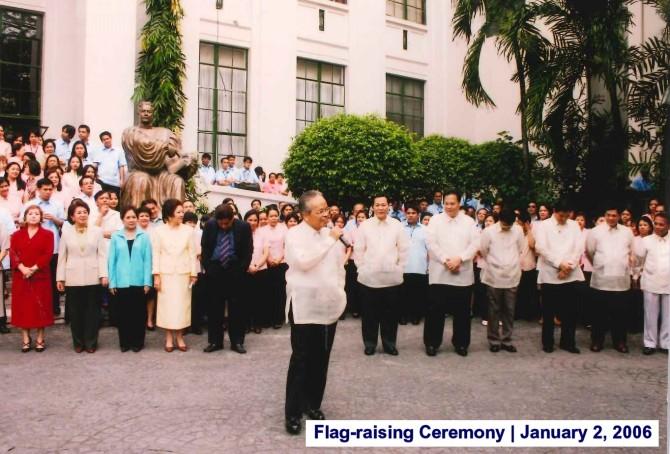 Flag-raising Ceremony January 2, 2006 3
