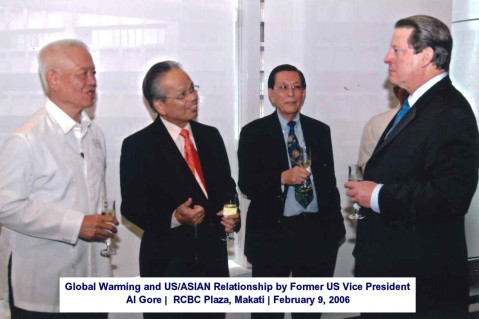 Global Warming and USASIAN Relationship by Former US Vice President Al Gore RCBC Plaza, Makati February 9, 2006