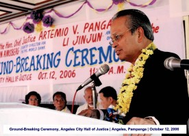 Ground-Breaking Ceremony, Angeles City Hall of Justice Angeles, Pampanga October 12, 2006