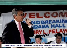 Ground-Breaking Ceremony, Candaba Hall of Justice Candaba, Pampanga October 12, 2006(1)