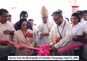 Honors from the Municipality of Candaba, Pampanga April 23, 2006 1