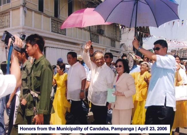 Honors from the Municipality of Candaba, Pampanga April 23, 2006 3