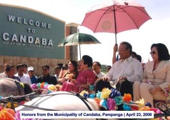 Honors from the Municipality of Candaba, Pampanga April 23, 2006 5