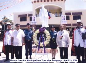 Honors from the Municipality of Candaba, Pampanga April 23, 2006