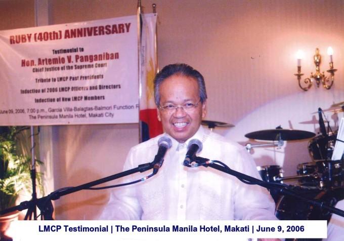 LMCP Testimonial The Peninsula Manila Hotel, Makati June 9, 2006 2