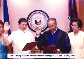 Oath -Taking of Court Administrator Christopher O. Lock May 9, 2006
