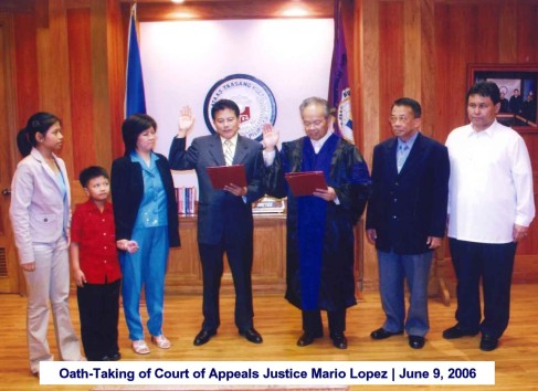 Oath-Taking of Court of Appeals Justice Mario Lopez June 9, 2006