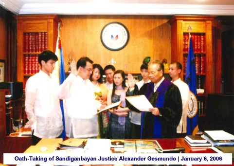 Oath-Taking of Sandiganbayan Justice Alexander Gesmundo January 6, 2006