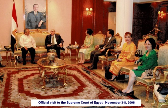 Official visit to the Supreme Court of Egypt November 3-8, 2006