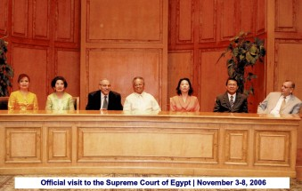 Official visit to the Supreme Court of Egypt November 3-8, 2006(1)