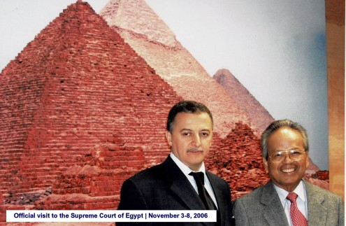 Official visit to the Supreme Court of Egypt November 3-8, 2006(5)