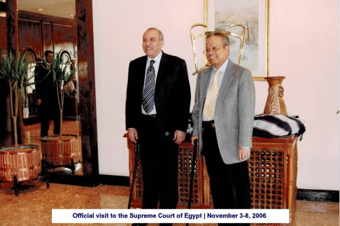 Official visit to the Supreme Court of Egypt November 3-8, 2006(6)