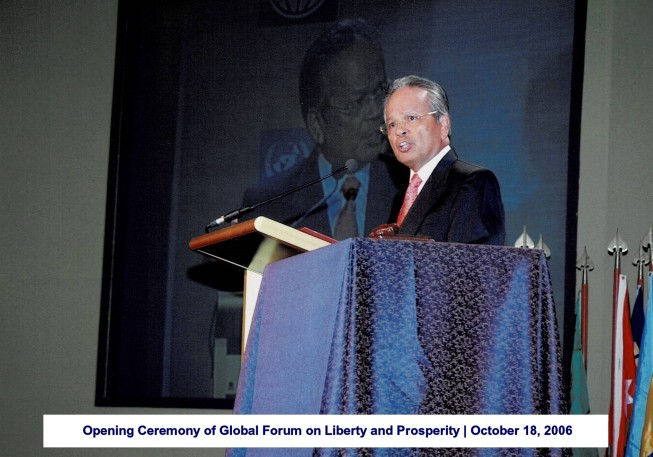 Opening Ceremony of Global Forum on Liberty and Prosperity October 18, 2006 1