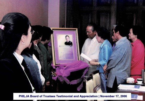 PHILJA Board of Trustees Testimonial and Appreciation November 17, 2006