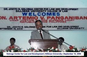 Salonga Center for Law and Development Silliman University September 16, 2006