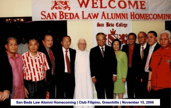 San Beda Law Alumni Homecoming Club Filipino, Greenhills November 15, 2006
