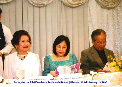 Society for Judicial Excellence Testimonial Dinner Diamond Hotel January 19, 2006