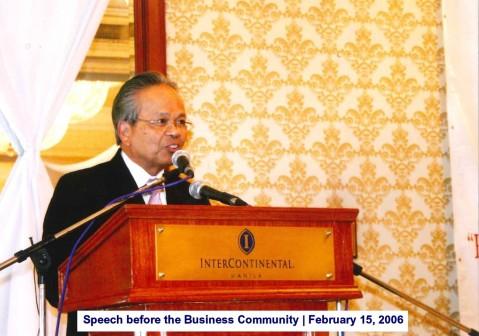 Speech before the Business Community February 15, 2006