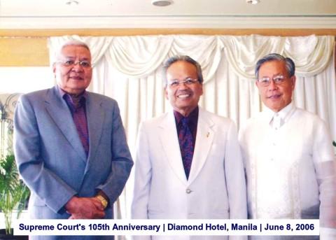 Supreme Court's 105th Anniversary Diamond Hotel, Manila June 8, 2006