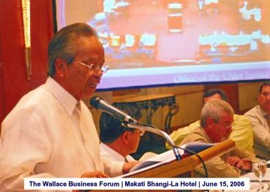 The Wallace Business Forum Makati Shangi-La Hotel June 15, 2006