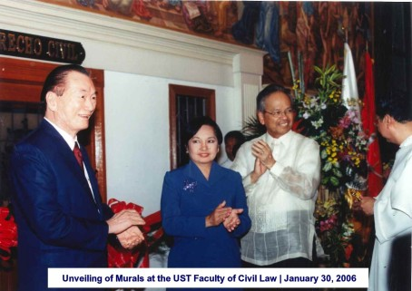 Unveiling of Murals at the UST Faculty of Civil Law January 30, 2006