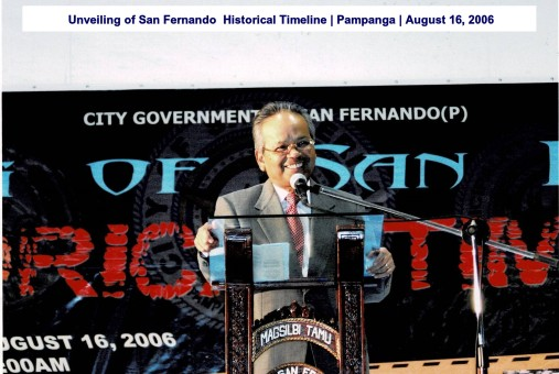 Unveiling of San Fernando Historical Timeline Pampanga August 16, 2006
